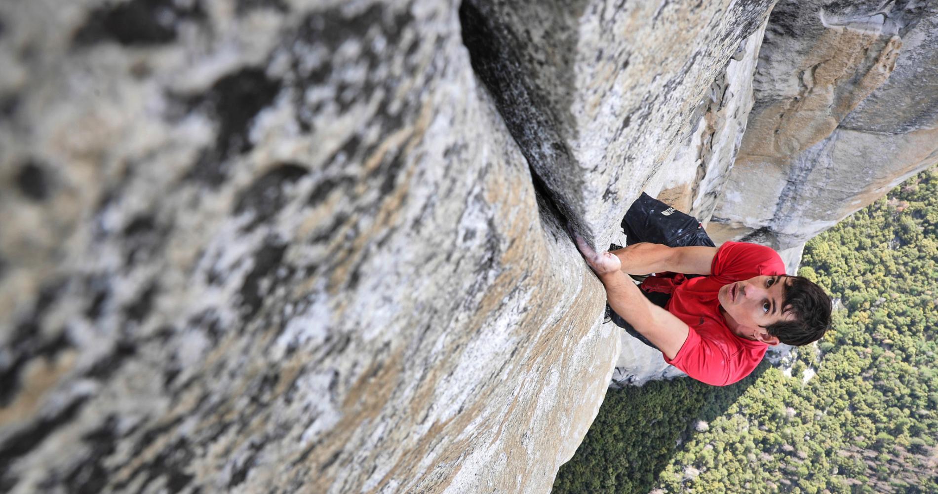 Alex Honnold en la Freerider al Cap. Yosemite