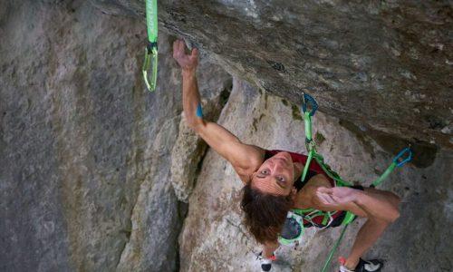 Melissa Le Nevé en «Action Directe» (9a). Foto: Fabian Buhl